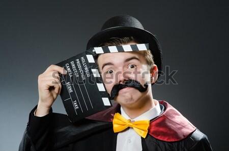 Jeunes prisonnier arme de poing gris homme noir Photo stock © Elnur