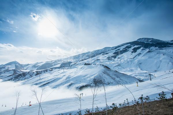 Montanas invierno Azerbaiyán paisaje nieve azul Foto stock © Elnur
