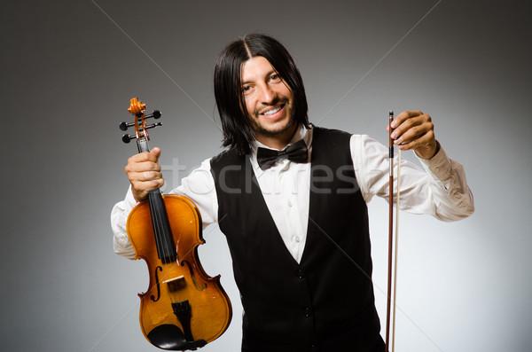 Férfi játszik hegedű musical művészet koncert Stock fotó © Elnur