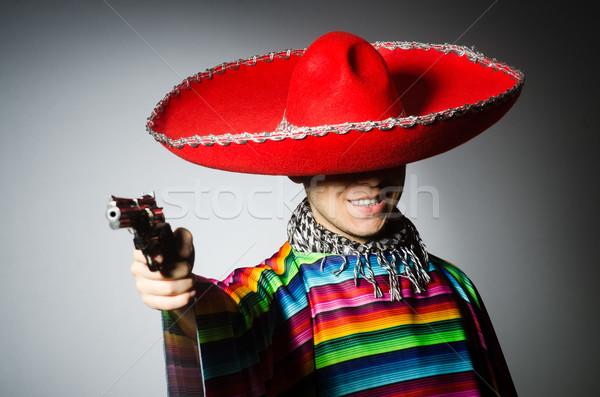 Homem mexicano arma curta cinza Foto stock © Elnur