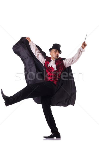 Homem mágico isolado homem branco branco diversão Foto stock © Elnur