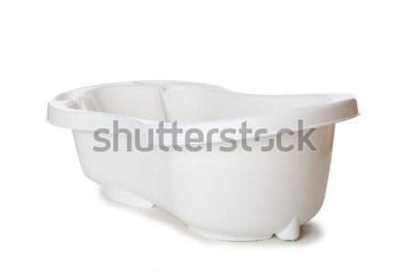 Faible baignoire isolé blanche bébé enfant Photo stock © Elnur