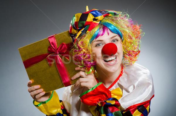 Funny clown komiczny człowiek zabawy tęczy Zdjęcia stock © Elnur