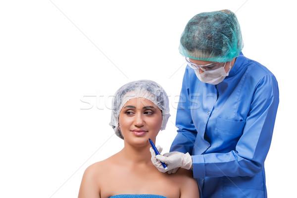 Chirurgia plastica isolato bianco donna faccia Foto d'archivio © Elnur