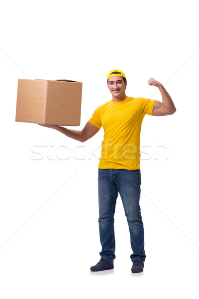 The man delivering christmas present isolated on white Stock photo © Elnur