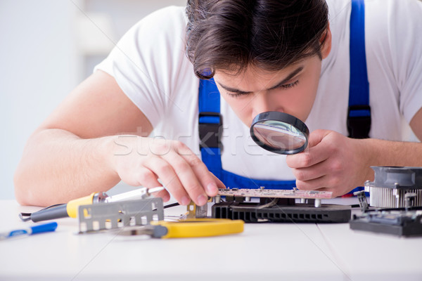 Computer werken werknemer Stockfoto © Elnur