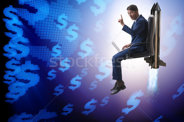 Businessman in financial growth concept Stock photo © Elnur