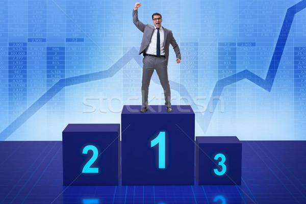 üzletember elvesz első hely verseny sport vállalati Stock fotó © Elnur