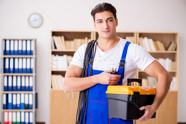 Man doing electrical repairs at home Stock photo © Elnur