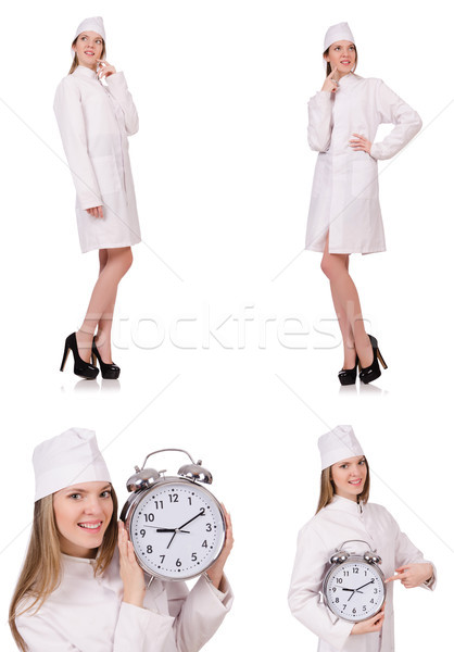 Young woman doctor isolated on white Stock photo © Elnur