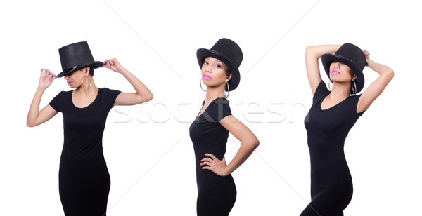 Woman wearing hat isolated on white Stock photo © Elnur