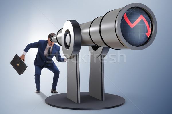 üzletember pénzügyi tervezés üzlet munkás pénzügy jövő Stock fotó © Elnur