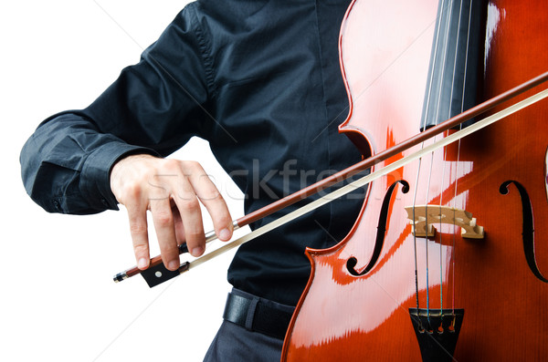 Hands playing cello at the concert Stock photo © Elnur