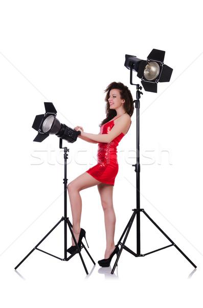 Nő stúdió lövöldözés lány arc divat Stock fotó © Elnur