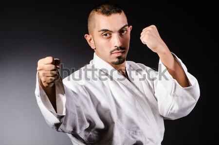 Karatê artes marciais lutador esportes corpo fitness Foto stock © Elnur
