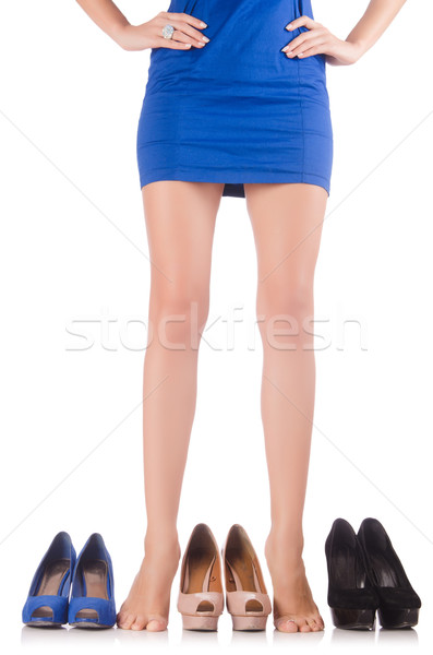 Choice of woman shoes on white Stock photo © Elnur