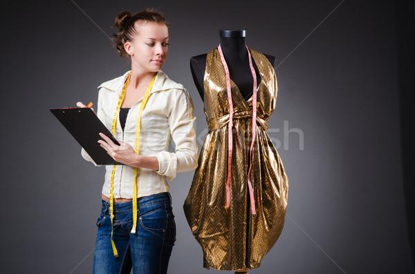 Donna su misura lavoro abbigliamento moda lavoro Foto d'archivio © Elnur