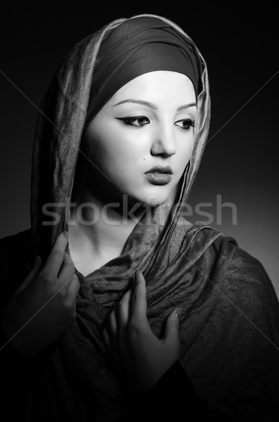Muslim woman with headscarf in fashion concept Stock photo © Elnur