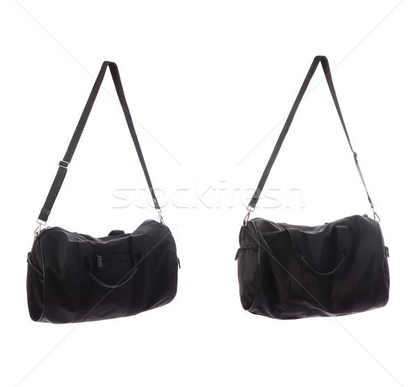 Frau Tasche isoliert weiß Hintergrund schwarz Stock foto © Elnur