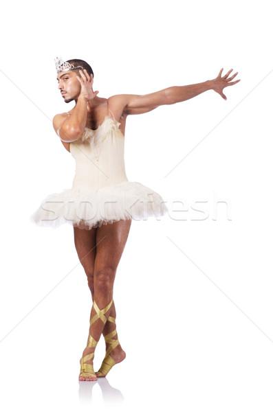 Izmos balett előadó vicces férfi divat Stock fotó © Elnur