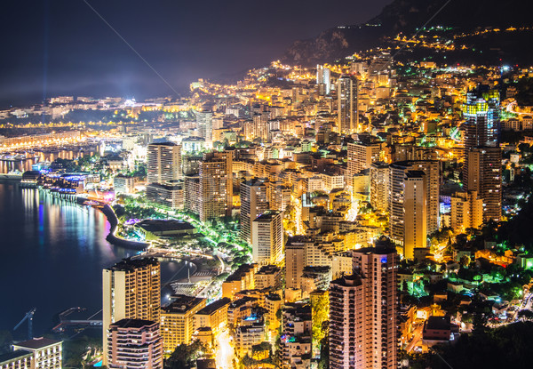 Stockfoto: Nacht · Monaco · berg · water · zomer