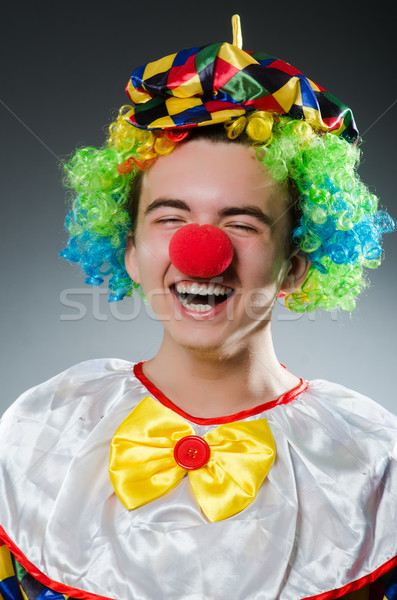 Divertente clown umorismo sorriso divertimento Hat Foto d'archivio © Elnur