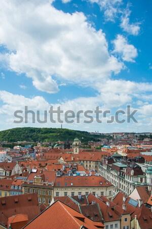 Görmek Prag parlak yaz gün gökyüzü Stok fotoğraf © Elnur