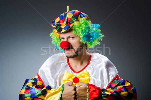 Grappig clown kleurrijk kostuum glimlach gelukkig Stockfoto © Elnur