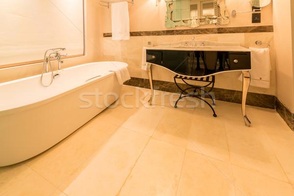 современных ванную интерьер ванна стекла здоровья Сток-фото © Elnur