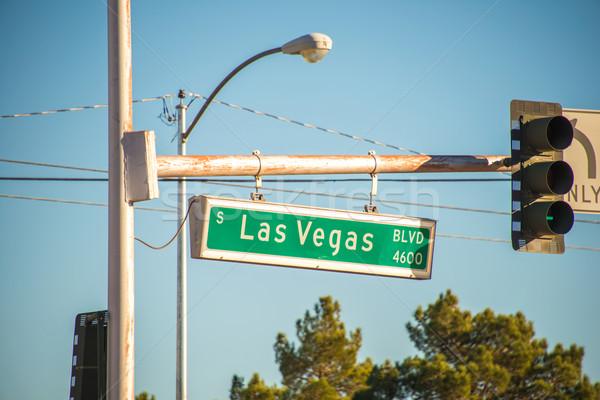 Las Vegas straat teken zomer dag weg teken Stockfoto © Elnur