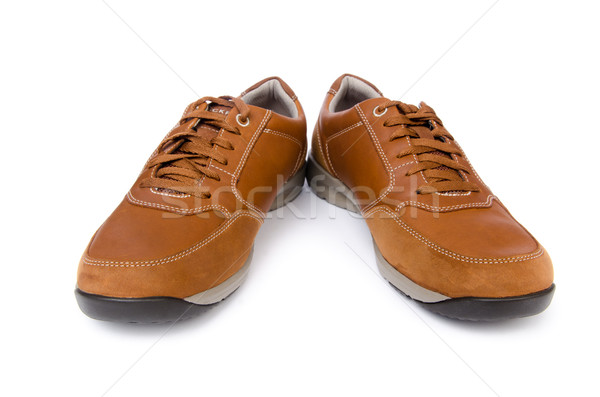 Male Shoes Isolated On White Background Stock Photo C Elnur