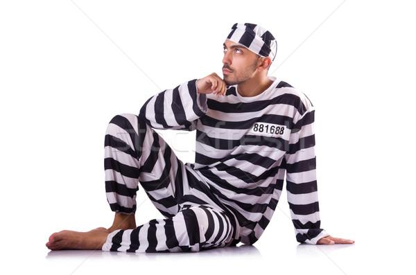Prisión preso aislado blanco hombre feliz Foto stock © Elnur