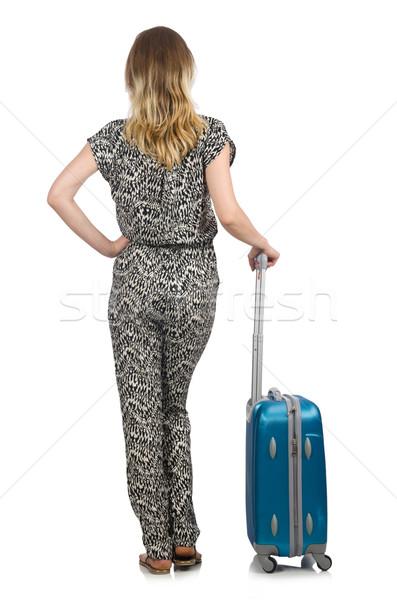 旅行 休暇 荷物 白 女性 少女 ストックフォト © Elnur