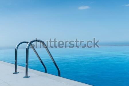 Nieskończoność basen jasne lata dzień niebo Zdjęcia stock © Elnur