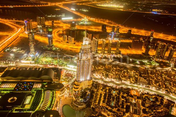 Panorama nacht Dubai zonsondergang business kantoor Stockfoto © Elnur