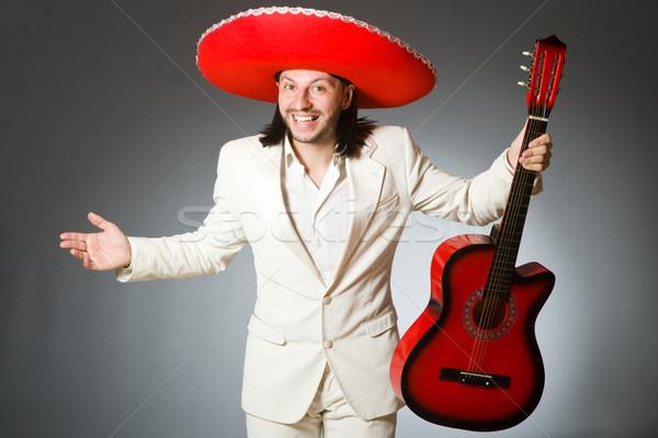 Jonge Mexicaanse gitarist sombrero muziek Stockfoto © Elnur