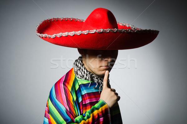 Mann lebendig mexican grau Augen Hintergrund Stock foto © Elnur