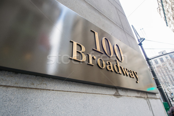 Broadway jelzőtábla New York iroda út utca Stock fotó © Elnur
