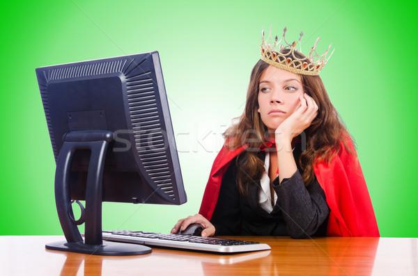 Escritório rainha isolado branco trabalhar monitor Foto stock © Elnur