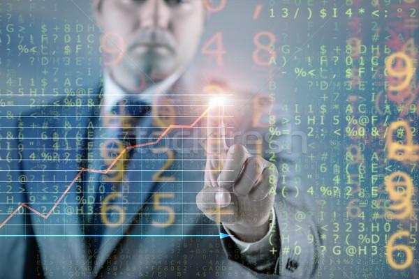 Businessman of digital age in concept  Stock photo © Elnur