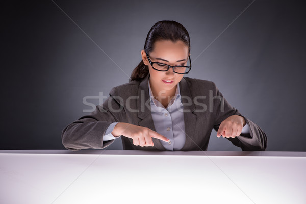Businesswoman holding hands in business concept Stock photo © Elnur