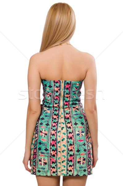 Model jurk tapijt communie geïsoleerd Stockfoto © Elnur