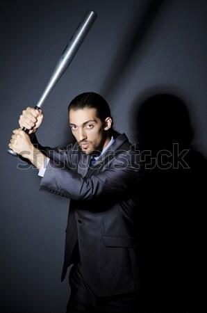 бизнесмен заложник вверх веревку безопасности темно Сток-фото © Elnur