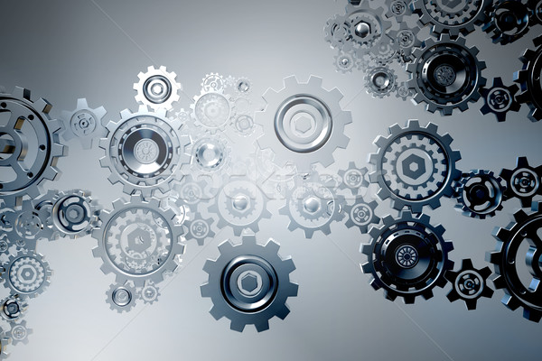 The concept of teamwork with cogwheels Stock photo © Elnur