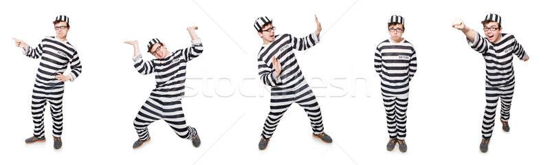 Grappig gevangenis bewoner man recht vrijheid Stockfoto © Elnur