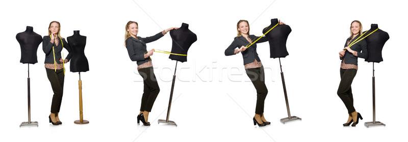 Nő szabó izolált fehér üzlet lány Stock fotó © Elnur