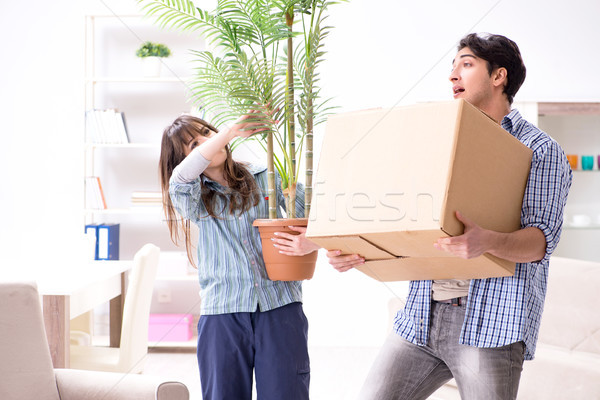 Young family moving in to new apartment after paying off mortgag Stock photo © Elnur
