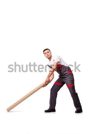 Affaires sauvetage blanche bureau heureux Photo stock © Elnur
