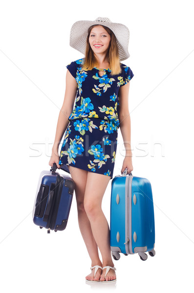 Woman with suitacases preparing for summer vacation Stock photo © Elnur
