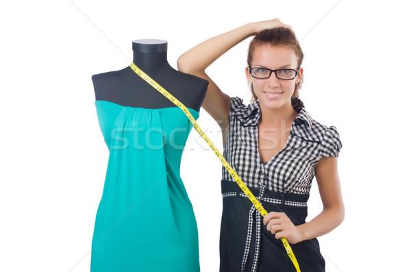 Mujer sastre de trabajo blanco moda trabajo Foto stock © Elnur